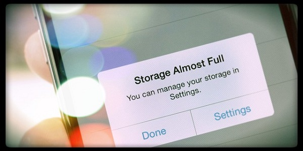 iPhone báo đầy bộ nhớ