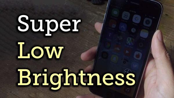 Chia sẻ cách giảm độ sáng màn hình iPhone xuống thấp hơn giới hạn iOS