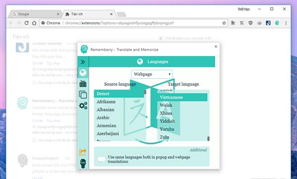 Cài đặt Rememberry vào Google Chrome thật dễ dàng