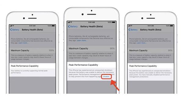 Cách kiểm tra tình trạng pin trên hệ điều hành iOS 11.3 beta