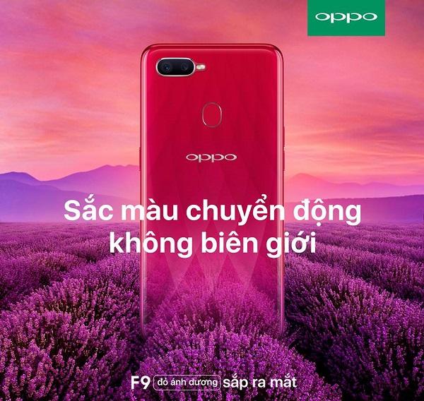 điện thoại OPPO F9 sắp ra mắt