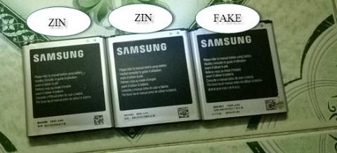 Kiểm tra bên ngoài viên Pin Samsung