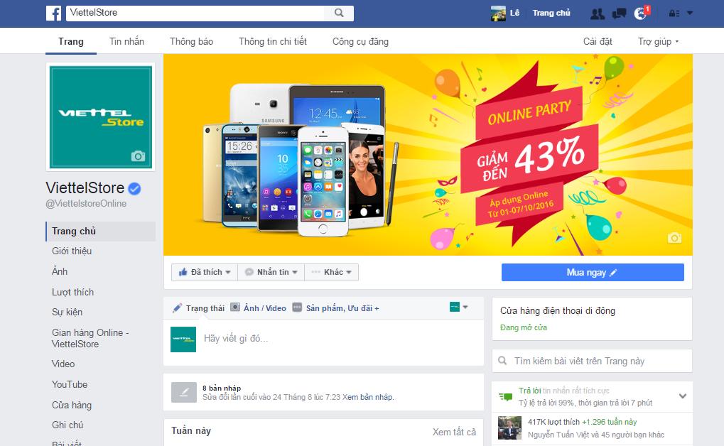 Xuất hiện fanpage giả mạo Viettel Store bán iPhone với giá 100.000 đồng