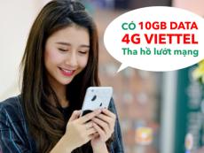 Bí kíp nhận 10GB Data 4G Viettel miễn phí 100%