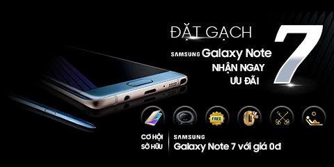 Đặt gạch Galaxy Note 7