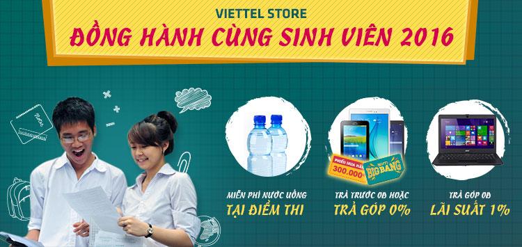Viettel Store đồng hành cùng sinh viên 2016