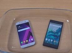 Thử khả năng Galaxy A5 2017 chống nước ở môi trường nóng 100oC