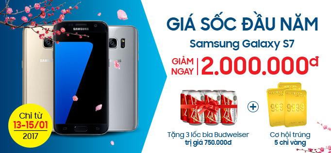 Giá Sốc Đầu Năm - Galaxy S7 Giảm Ngay 2 triệu