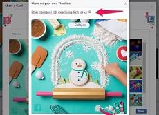 Bạn đã sử dụng bộ thiệp Giáng Sinh dễ thương mà Facebook dành tặng chưa?