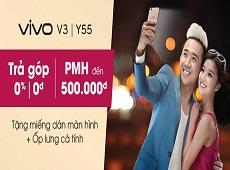 Bộ đôi Vivo V3 và Y55 khuyến mãi rộn ràng tại Viettel Store