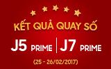 Danh sách khách hàng trúng thưởng bộ đôi Galaxy j5 Prime/J7 Prime
